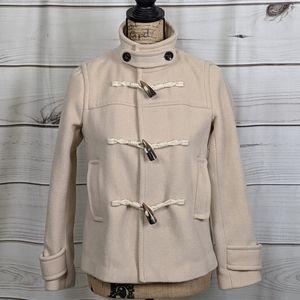 BANANA REPUBLIC 72% Wool Cream Coat